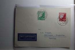 Deutsches Reich 529-530 Gestempelt Auf Karte Mit Luftpost Befördert #BA217 - Non Classificati