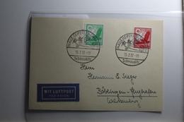 Deutsches Reich 529-530 Gestempelt Auf Karte Mit Luftpost Befördert #BA216 - Non Classificati