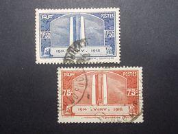 Lot 2 Timbres France N°316/317 VIMY (25) - Marcofilia (Sellos Separados)