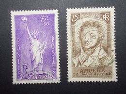 Lot 2 Timbres France N°309/310  (26) - Marcofilia (Sellos Separados)