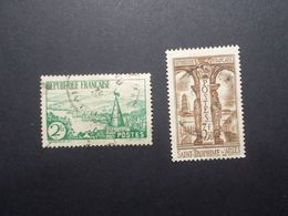 Lot 2 Timbres France N°301/302 (28) - Marcofilia (Sellos Separados)