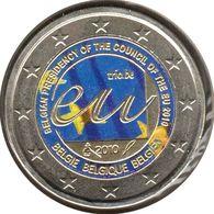 BE20010.2 - BELGIQUE - 2 Euros Commémo. Colorisée Présidence Du Conseil De L'UE - 2010 - Bélgica