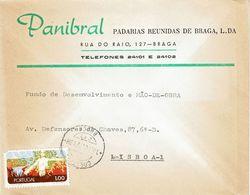 Portugal , 1972 , Commercial Cover , PANIBRAL  ,  Padarias Reunidas De  Braga  , Nature Stamp - 1910-... Republik
