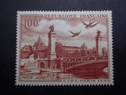 Timbre FRANCE Avion N°28 Neuf** Sans Charnière (40) - Marcofilia (Sellos Separados)