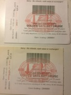 Billet Embarquement. USA. Golden Gate Cruise - Schiffstickets