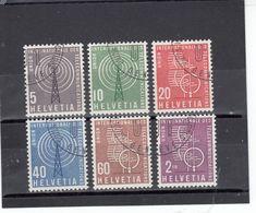 Suisse - Année 1958 - Service - Oblitéré - N°Zumstein 1/6 - UIT - Sujets Symboliques - Service