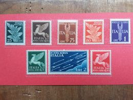 REGNO - Posta Aerea Nn. 10/17 Nuovi ** + Spese Postali - 1900-44 Vittorio Emanuele III