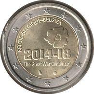 BE20014.1 - BELGIQUE - 2 Euros Commémo. 100 Ans Première Guerre Mondiale - 2014 - Bélgica