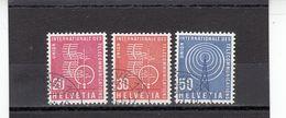 Suisse - Année 1960 - Service - Oblitéré - N°Zumstein 7/9 - UIT - Sujets Symboliques - Service