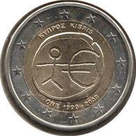 CH20009.1 - CHYPRE - 2 Euros Commémo. 10 Ans De L'UEM - 2009 - Chipre