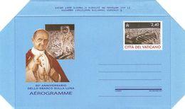 Vatican 2019 Space 50th Anniversary Of The Moon Landing Apollo 11 Aerogramme MNH - Europe
