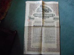 2 Obligations MADEIRA-MAMORE Railway Company - 20 Dollars -1910 - Transports