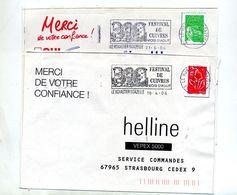 Lettre Flamme Le Monastier Festival Cuivre - Marcophilie (Lettres)
