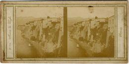 """Vue Stéréoscopique, """"Maison De Lafse, Sorrento.  Tirage AlbuminéFG1663 - Stereoscopio"""