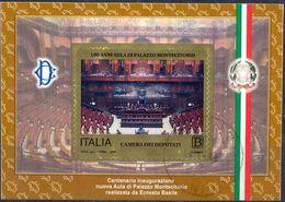 ITALY - Centenary Of The Hall Of The Montecitorio Palace - MI.NO.BL 80 - CV = 2 € - 6. 1946-.. Republic