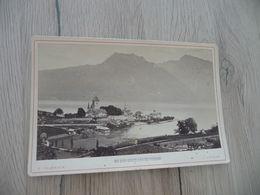 Photo Originale Cabinet Grand Format Charnaux Genève 1884 Lac De Thoune Spiez - Lieux