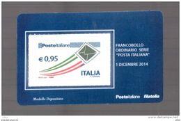 """ITALIA : Tessera Filat.  P.O. """"Posta Italiana""""   €  0,95   Del   1.12.2014 - Filatelistische Kaarten"""