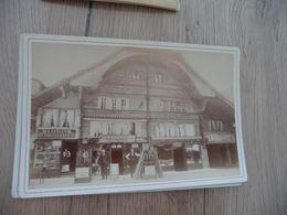 Photo Originale Cabinet Grand Format  1884 Braun Dornach Anciennes Maisons à Interlaken Suisse - Lieux