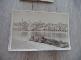 Photo Originale Cabinet Grand Format Vers  1884 Suisse Garcin Genève Lucerne Lac Des 4 Cantons - Lieux