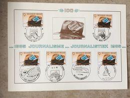 2158 (6x Journalisme AGJPB) 6 Cachets Différents : Frameries, Nismes, Gent, Sint-Truiden, Bruxelles 1041, Brussel 1041 - 1981-1990