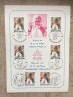2166 (6x Pape Jean-Paul II - Karol Wojtyla) 6 Cachets Différents: Antwerpen, Beauraing, Eupen, Brugge, Bruxelles 1030 +1 - Maximumkarten (MC)