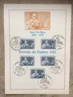 2169 (5x Jean DE BAST) - 5 Cachets Différents 20-4-1985 : Braine-le-Comte, Couvin, Ougrée, Bruxelles, Brussel - Maximumkarten (MC)