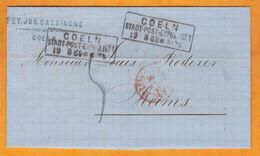 1869 - Lettre Avec Correspondance De COELN Cologne Vers Rheims Reims, France - Champagne Roederer - North German Conf.