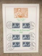 2169 (5x Jean DE BAST) - 5 Cachets Différents 20-4-1985 : Maasmechelen, Sint-Denijs-Westrem, Wervik, Zaventem +2 - Maximumkarten (MC)