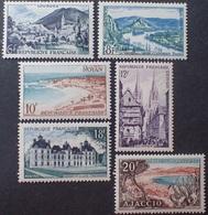 R1615/2122 - 1954 - SERIE TOURISTIQUE (COMPLETE) - N°976 à 981 NEUFS** - France