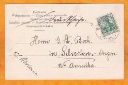 1907 - Carte Postale De Maisonsgoutte Meisengotte, Alsace Occupée, Bas Rhin Vers Silverton, Oregon, USA - 5 Pf - Alsace-Lorraine