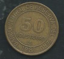 Perou 50 SOL DE ORO 1981 PERU   Laupi 13101 - Pérou