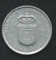 1 FRANC 1959 BELGISCH CONGO   Laupi 13106 - Belgisch-Kongo & Ruanda-Urundi