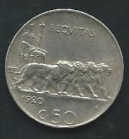 50 CENTESIMI 1920 R ITALIE Laupi 13109 - 1900-1946 : Victor Emmanuel III & Umberto II