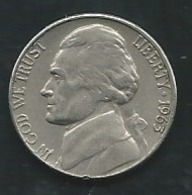 ETATS UNIS FIVE CENTS 1963 Laupi 13116 - Federal Issues