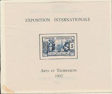 Bloc Exposition Internationale MAURITANIE Arts Et Techniques 1937 - Other