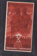 S48 /   Drittes Reich / WHW Spendenabzeichen Spendenblatt 1936 Opferwille - Weltkrieg 1939-45
