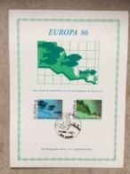 2211/12 (série Complète Europa 1986 : Nature Et Environnement) Cachet Auvelais 3-5-1986 - Maximumkarten (MC)