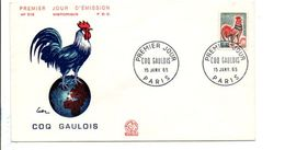 FDC 1965 COQ GAULOIS - 1960-1969