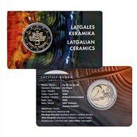 2020 Latvia Lettland 2 EURO Münzen CARD Latgalian Keramik Kerzenhalter COINCARD - Lettonie
