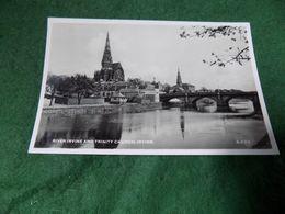 VINTAGE UK SCOTLAND: IRVINE River Irvine And Trinity Church B&w 1960 - Ayrshire