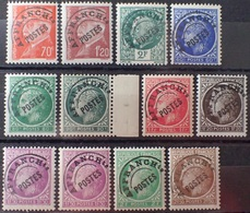 """R1615/2126 - 1941/1947 - PREO (SERIE COMPLETE) TYPE PETAIN / CERES - N°84 à 93 NEUFS**(9)/*(3) VARIETE """"O"""" Limé (N°92c) - Préoblitérés"""