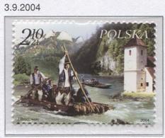Poland 2004 Mi 4149 Raftsmen On The Danube River, Polish And Slovakian Post MNH** - 1944-.... Republic