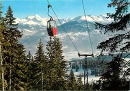 Suisse - VS Valais - Montana - Téléférique Du Signal Avec Les Alpes - CPM - Carte Neuve - Voir Scans Recto-Verso - VS Valais