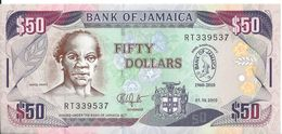 JAMAIQUE - 50 Dollars 2010 - UNC - Jamaique