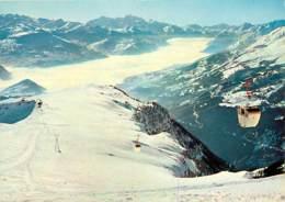 Suisse - VS Valais - Mer De Brouillard Sur La Vallée Du Rhône Et Le Mt. Blanc. Vue Depuis Bella-Lui - Téléphérique - Hiv - VS Valais