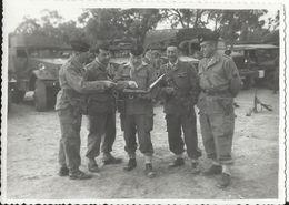 Militaria - Marnia Algérie, Etat-Major Peloton D'Auto-mitrailleuses SCOUT CAR WHITE M3A1 Photo 12.3 X 9 Cm - Matériel