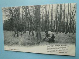 Cpa Chasse --Série FLAGRANT DELIT De BRACONNAGE -- Carte N° 1 - Braconnier Tendant Ses Filets - Chasse