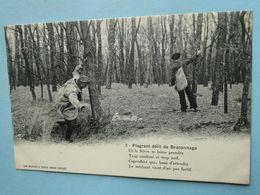Cpa Chasse -- Série FLAGRANT DELIT De BRACONNAGE --  Carte N° 2 - Prise Du Lièvre - Chasse