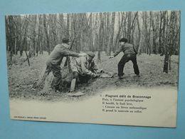 Cpa Chasse -- Série FLAGRANT DELIT De BRACONNAGE --  Carte N° 5 - Prise Du Braconnier - Chasse