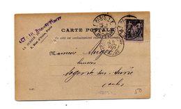 Carte Postale 10 Sage Cachet Paris  Nogent - Sobres Tipos Y TSC (antes De 1995)
